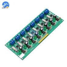AC 220V MCU TTL Level 8 Kanal Optokoppler Isolation Prüfung Bord Isoliert Erkennung Tester Modul PLC Prozessoren 8 kanal