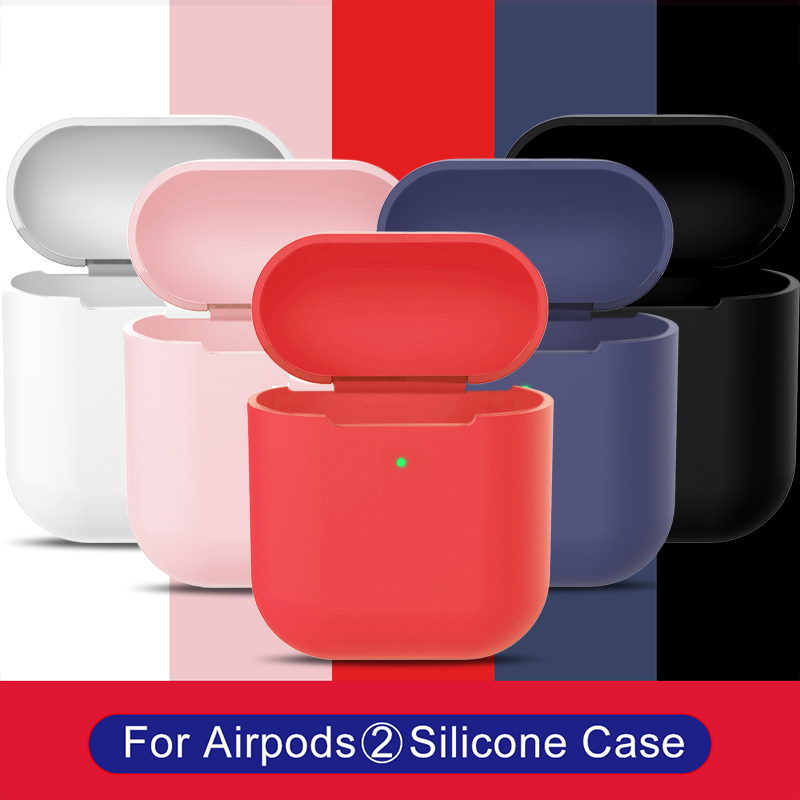 Shockproof Soft Silicone Case For Airpods 2 Accessories Protector Cover Transparent Ultra Thin TPU Holder For Apple Air Pods