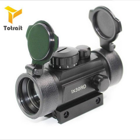 Scope para Airsoft Totrait Airsoft Riflescope Tático Holográfico Red Dot Sight 1x30rd