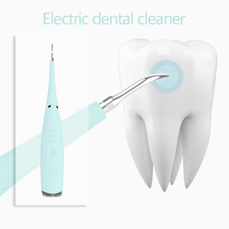 Portable Electric Tooth Cleaner Oral Irrigation Sonic Dental Scaler Rechargeable USB Tooth Calculus Tooth Stains Tartar Remover