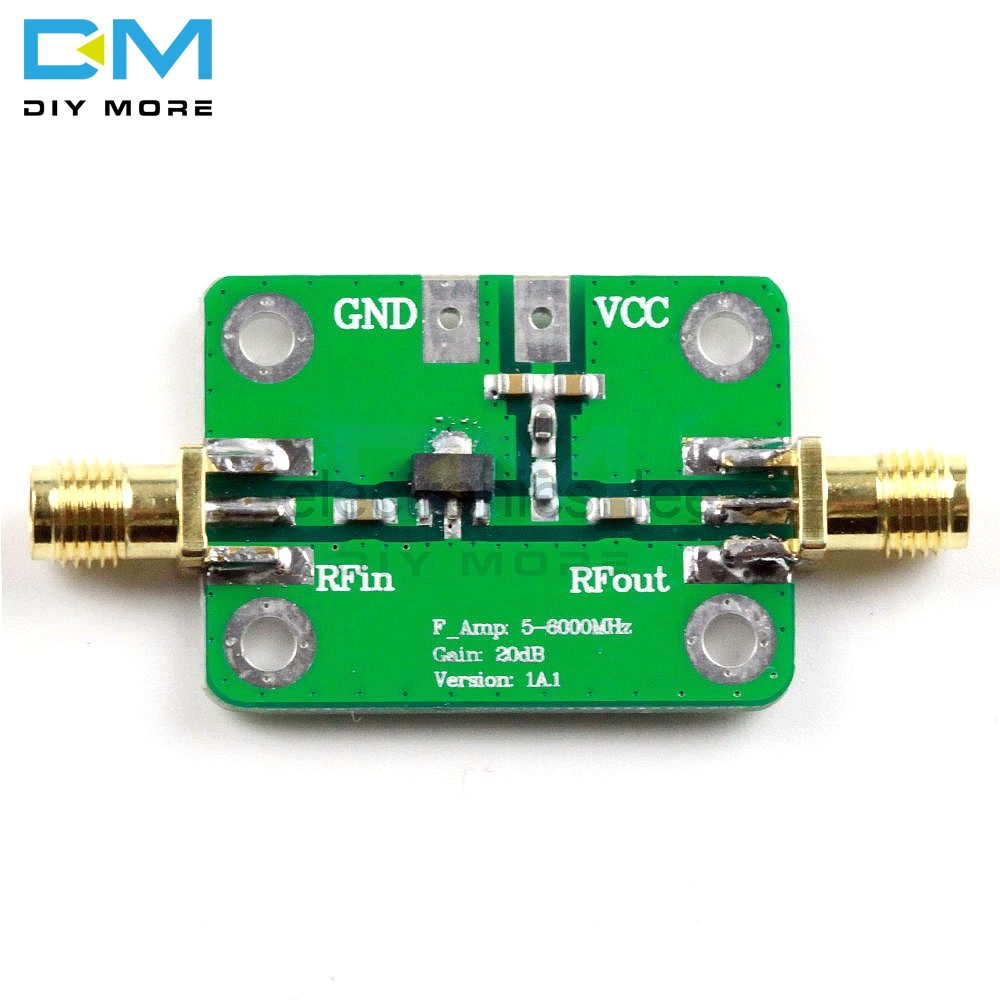 5-6000MHz Fixed Gain 20dB RF Ultra-Wideband Medium Power Amplifier Board Module 5M-6GHz Converter Module DC 5V 85mA image