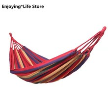 Rainbow Outdoor Leisure Double 2 Person Canvas Hammocks Ultralight Camping Hammock with Backpack 1.9*1.5m