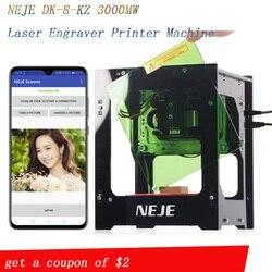 NEJE 2019 hot selling new 3000mw 445nm Ai laser engraver Wood Router DIY Desktop Laser Cutter Printer Engraver Cutting Machine