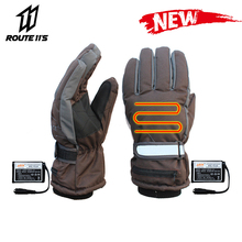 Motorcycle Gloves Waterproof Moto Heating USB Hand Warmer Electric Heated Gloves Battery Powered Thermal Heated Guantes stylish usb heated warm gloves purple white pair