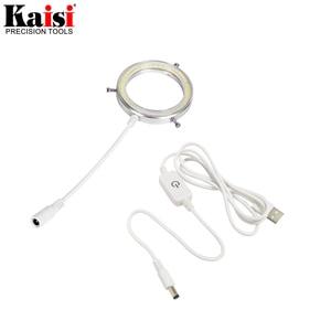 Image 3 - Kaisi سامسونج 60 LED قابل للتعديل مصباح مصمم على شكل حلقة إضاءة مصباح ستيريو مجهر تكبير USB التوصيل