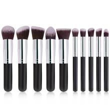 цена на Cosmetic Brushes Set Foundation Brush Powder Brush Makeup Brushes Wood Handle Soft Artificial Fiber Beauty Tools