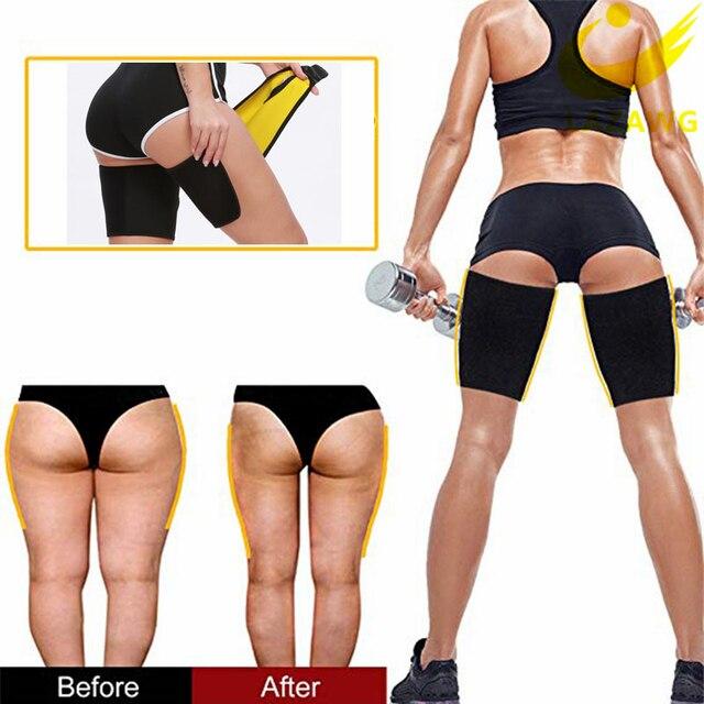 1 Pair Slimmer Legs Strap Belt Trimmer Sweat Band Leg Slimmer Weight Loss Neoprene Workout Corset Thigh Slimmer Tone Legs Strap 2