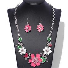 Rhinestone Crystal Bridal Jewelry Sets Necklaces Earrings Si