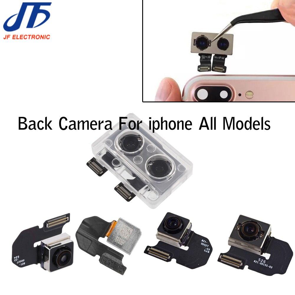 Câmera traseira iphone, 5 peças para iphone 6 6p 6s 6sp 7g 8 8plus x polegada grande módulo da câmera fita do cabo flexível de substituição peça de reparo