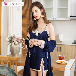 FENTENG primavera mangas de tres cuartos mujeres traje de Casa pijama ropa de dormir J98011708