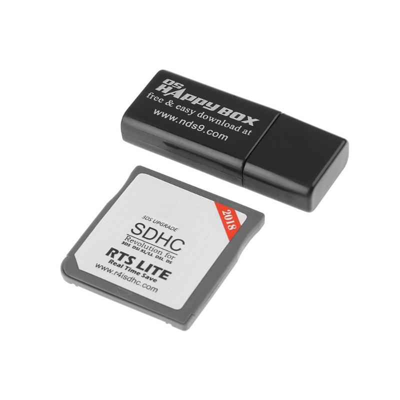 R4 Cartão Preto Revolução SDHC Pro para 3DS 2DS DSi XL DSL DS SDHC capacidade Útil suporta um máximo de 32 GB 45*27*10mm