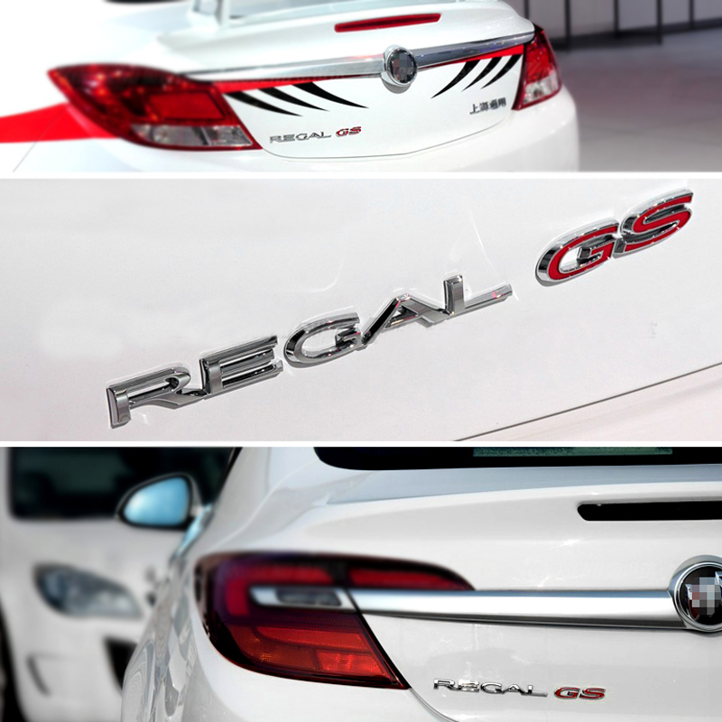 3D GS Alloy Car Auto Body Rear Back Emblem Badge Sticker for Buick REGAL Vehicle