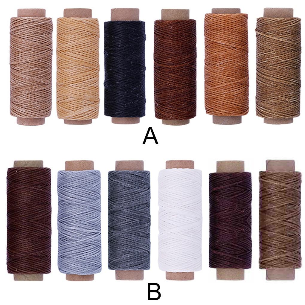 6 рулонов/упаковка, вощеная нить для шитья кожи