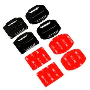 Image 4 - Voor Go Pro Accessoires Sticker Flat Curved Adhesive 3M Vhb Mount Surfboard Opgedoken Helmen Voor Gopro Hd Hero 9 8 7 6 5 4 3