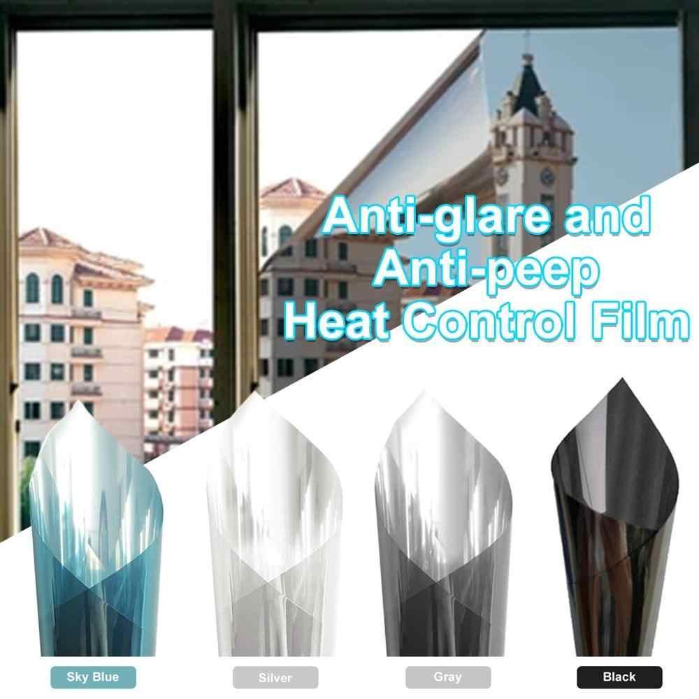 Solar Reflective Window Tint Film Privacy One Way Mirror Anti-UV Heat
