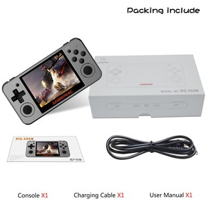 Image 4 - ANBERNIC Retro game RG350m Video games Upgrade hdmi game console ps1 game 64bit opendingux 3.5 inch 2500+ games RG350 Child gift