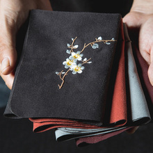 Винтажный вышитый чай, искусственная рыба, цветок сливы, искусственное полотенце для мытья чайного горшка, настольное чайное искусственное...