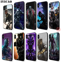 IYICAO Marvel Comics The Black Panther Soft Black Silicone Case for iPhone 11 Pro Xr Xs Max X or 10 8 7 6 6S Plus 5 5S SE iyicao jughead jones riverdale soft black silicone case for iphone 11 pro xr xs max x or 10 8 7 6 6s plus 5 5s se