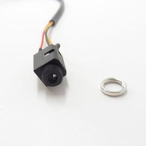 Image 4 - Kabel Audio 4Pin stóp Stereo gniazdo jack do słuchawek 3.5mm gniazdo z gwintowane podwójny kanał 3.5mm żeński do żeńskiego rozszerzenie audio kabel