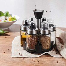 6 бутылок оливкового масла уксус дозатор и соль перец шейкер