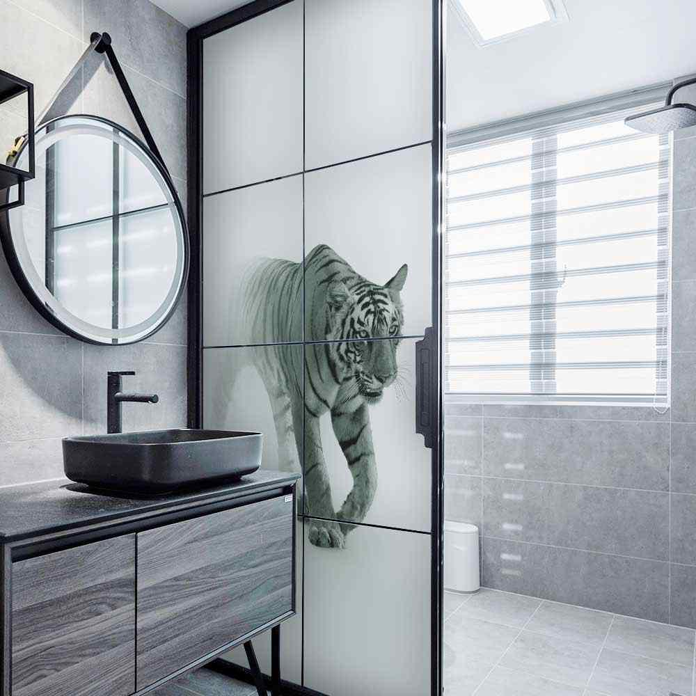 Dktie Frosted protezione della privacy window film di leone di vetro colorato pellicola del vinile window sticker autoadesivo di vetro soggiorno decorazione della stanza