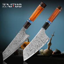 XITUO דמשק פלדת מטבח שף סכין חתכים חתיכה דגים חותכי יפני סכין חד Santoku שירות וgyuto Kiritsuke אבוני ידיתסכיני מטבח