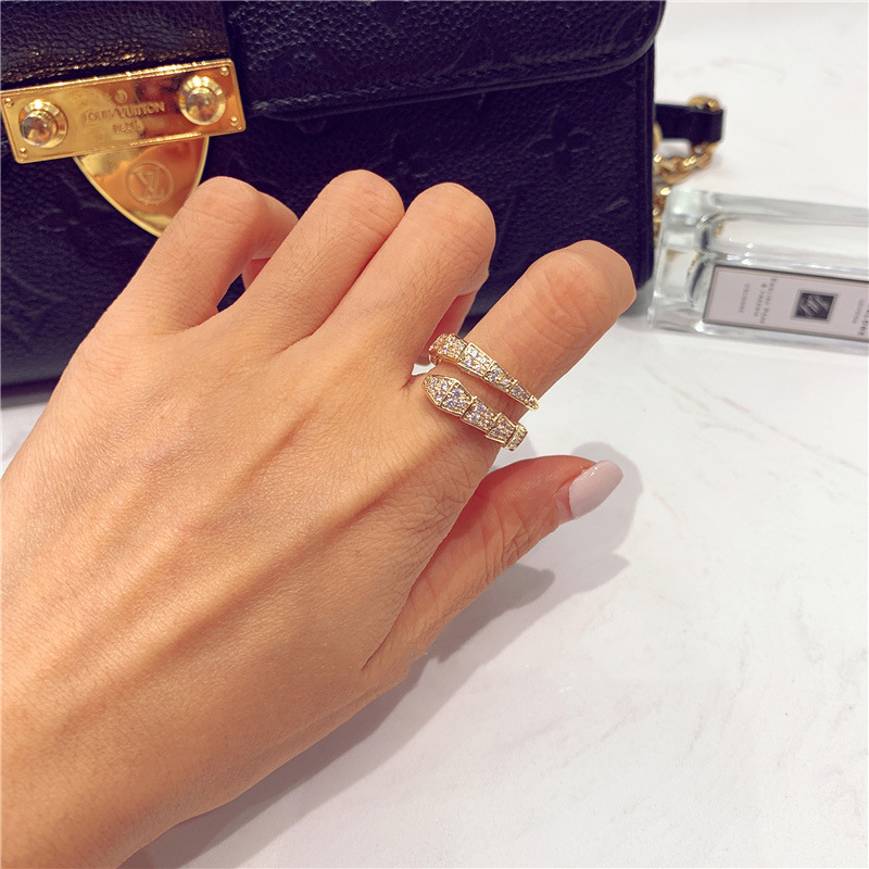 2020 Korea New Style Snake Ring Fashion Exquisite Open Ring Elegant Ladies Banquet Jewelry