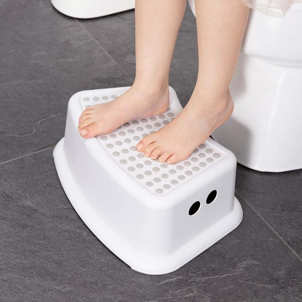 Plastic Step Stool Children Bathroom Foot Stool Non-slip Step Pads Anti-skid Foot Pedal Steps Bath Stair Toilet Stool