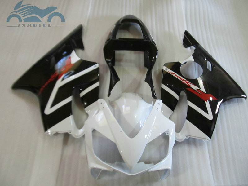 ABS plastic Injection fairing kit fit for <font><b>Honda</b></font> CBR 600F4i 2001 2002 2003 <font><b>CBR600F4i</b></font> 01 02 03 white black fairing kits <font><b>parts</b></font> HT36 image