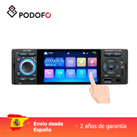 Podofo 1 din Car radio 4'' Car Video Player MP5 Mirror Link Capacitive touh screen Digital Display with Rear view camera