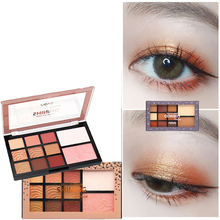 ZHENDUO 11 color blush contour highlighter one makeup Palette Shimmer Matte glitter Eyeshadow beauty palette