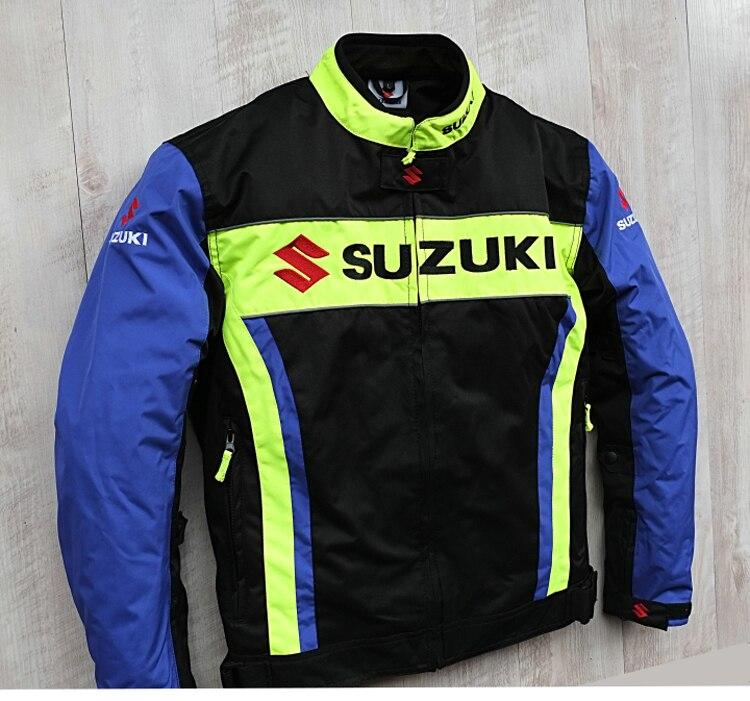 Nova Chegada 2019 Homens Da Motocicleta Jaquetas de Corrida para SUZUKI Offroad Motocross Equitação à prova de Vento Quente Jaqueta com 5pcs Protetores - 2