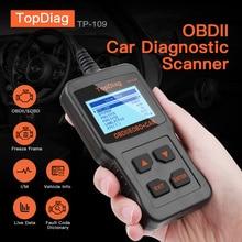 цена на OBD2 Diagnostic Scan Tool EOBD Vechicle I/M Ready Car Engine TP109 OBD TopDiag Code Reader Scanner Automotive OBD2 Scanner