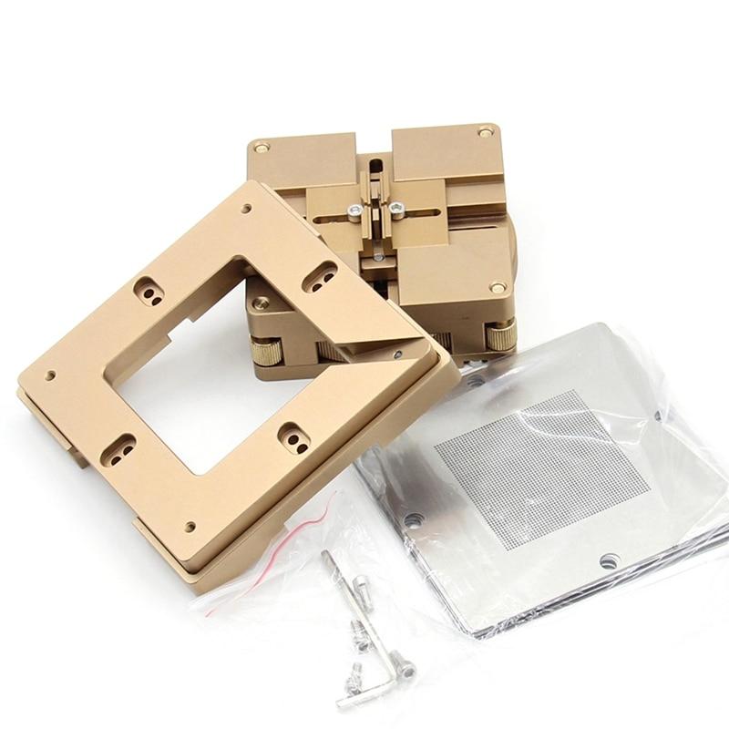 ABSS-90Mm Aluminium Alloy Bga Reballing Station Bga Reball Kit Magnetism Lock 10Pcs 90Mm Universal Bga Stencil Planting Jigs Fix