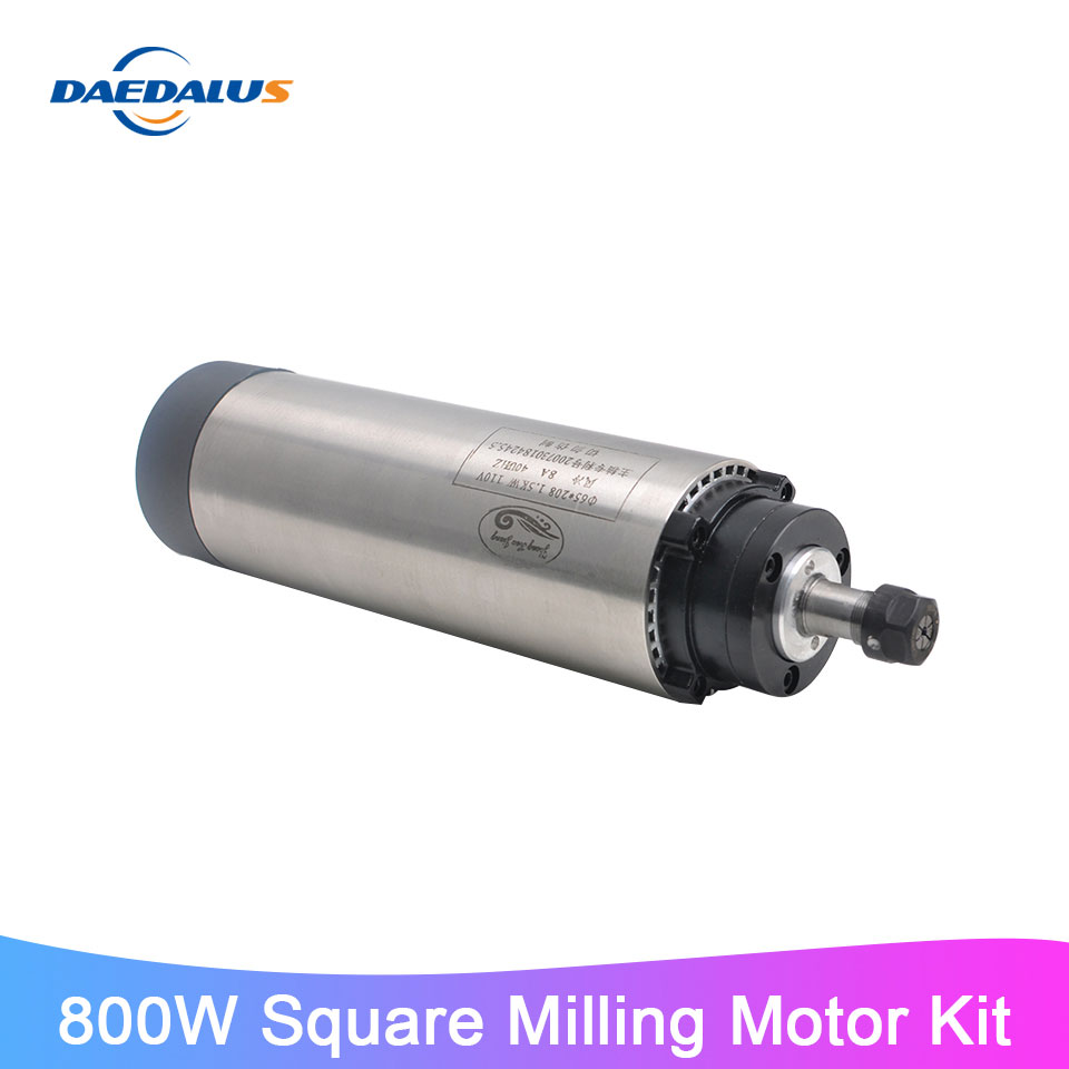 1.5KW 65mm Air Cooled Spindle Motor 24000rpm ER11 220V For CNC Router Machine