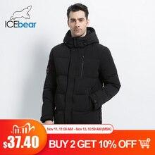 Icebear 2019 novo inverno quente moda casual casaco masculino jaqueta quente à prova de vento capuz parkas casaco de alta qualidade mwd18856i
