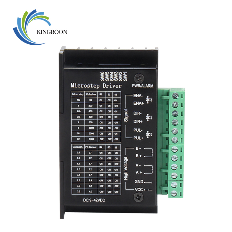 KingRoon Updated version of TB6600 42 stepper motor driver DC: 9~42VDC TTL 32 MicroStep Driver image