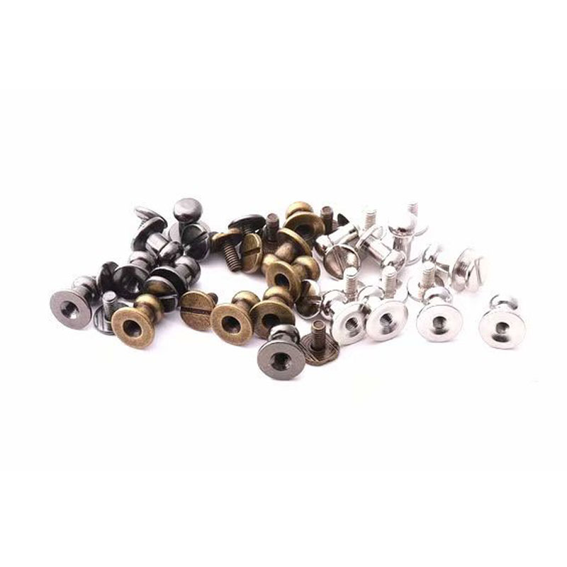 6 X 9mm Ball Head Stud Screw Back Nipple Rivet Studs Button Strap Stopper Leathercraft