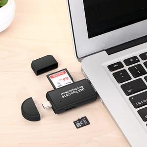 Image 3 - Tip C ve mikro USB ve USB 3 In 1 OTG kart okuyucu Yüksek hızlı USB2.0 Evrensel OTG TF/SD android Bilgisayar için Uzatma Başlıkları