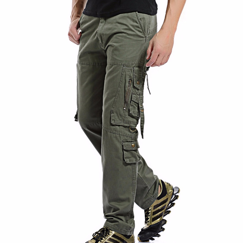 2020 Men Cargo Pant Casual Men Multi-Pocket Overall Male Combat Cotton Trousers Army Casual joggers pants Size 42 Drop shipping