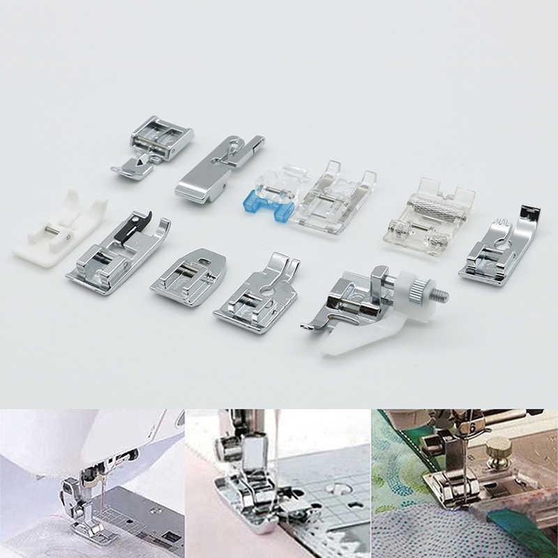 Un Set di Accessori Per Macchine Da Cucire Per Uso Domestico Piedino Piedi Kit Set Orlo Del Piede Pezzi di Ricambio Per Il Fratello Janome Singer