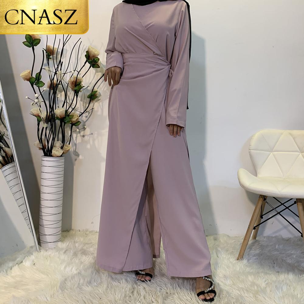 New Arrivals Muslim High Quality Simple Jumpsuit Islamic Turkey Fashion Jumpsuit Dress Elegant Comfortable Jumpsuit Clothing