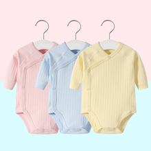 2pcs/lot Newborn Baby Clothes Rompers Cotton Infant Long Sleeves Autumn Girls Robe Solid Color Overalls Boys Ropa Bebe Clothing