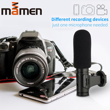 3.5mm Real-time Monitoring Hypercardioid Phone&Camera Vlog Microphone For Video Shooting Interview Condenser Recording Microfono