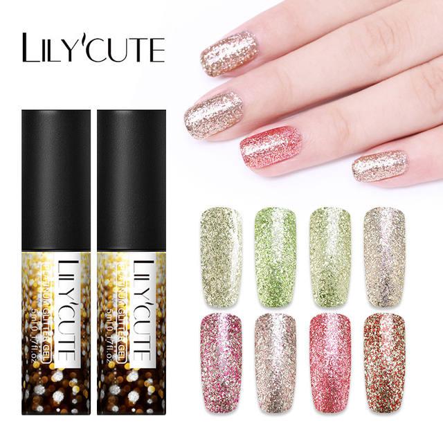 LILYCUTE 5ml Shiny Platinum Nails Gel