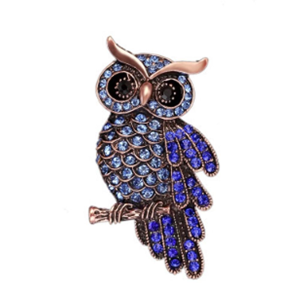 Badge-Pin Gifts-Accessories Owl-Brooches Rhinestone Korean Fashion Women Imitation Trendy