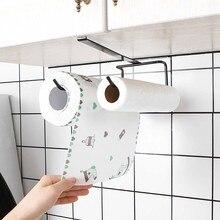 Рулонная бумажная стойка держатель для полотенец 1 шт. шкаф под полкой вешалка для салфеток стойка для шкафа без гвоздей полка для хранения аксессуаров