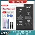 Оригинальный телефон батарея для iphone 5 5S 5SE высокой емкости Замена Bateria iphone 6 Plus 6S 6SP 7 7 плюс 8 плюс Мобильный телефон Аксессуары