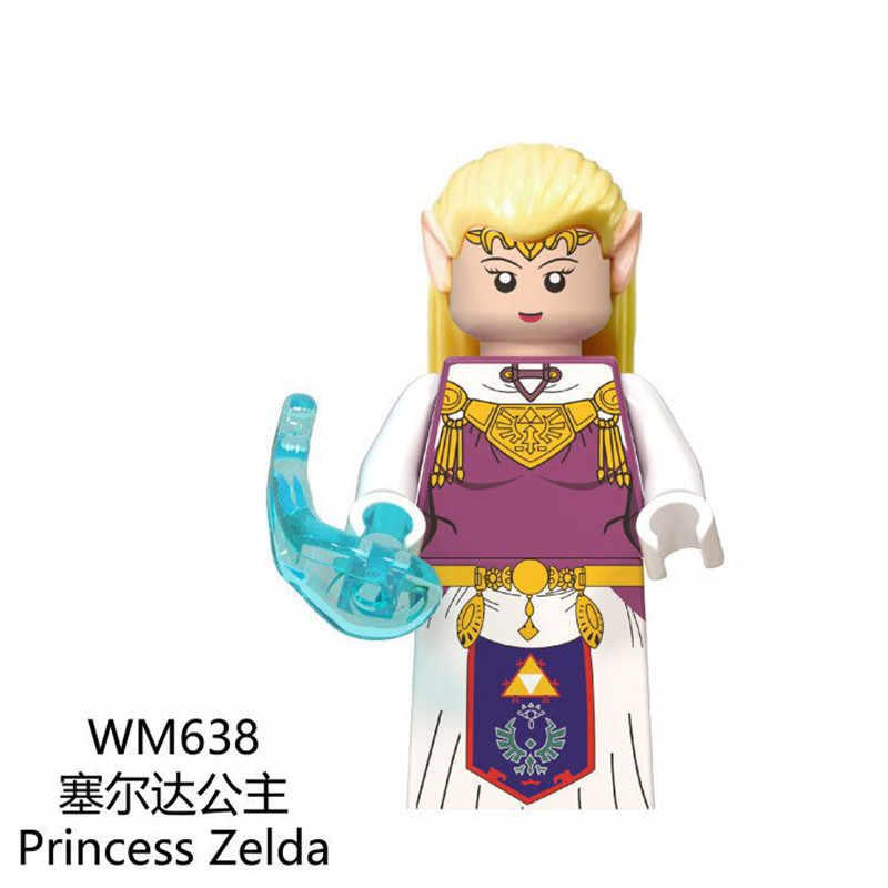 אסטרטגיה משחק נסיכת זלדה קישור בניין בלוקים פעולה diy דגם לבני חינוך צעצועי ילדי WM635