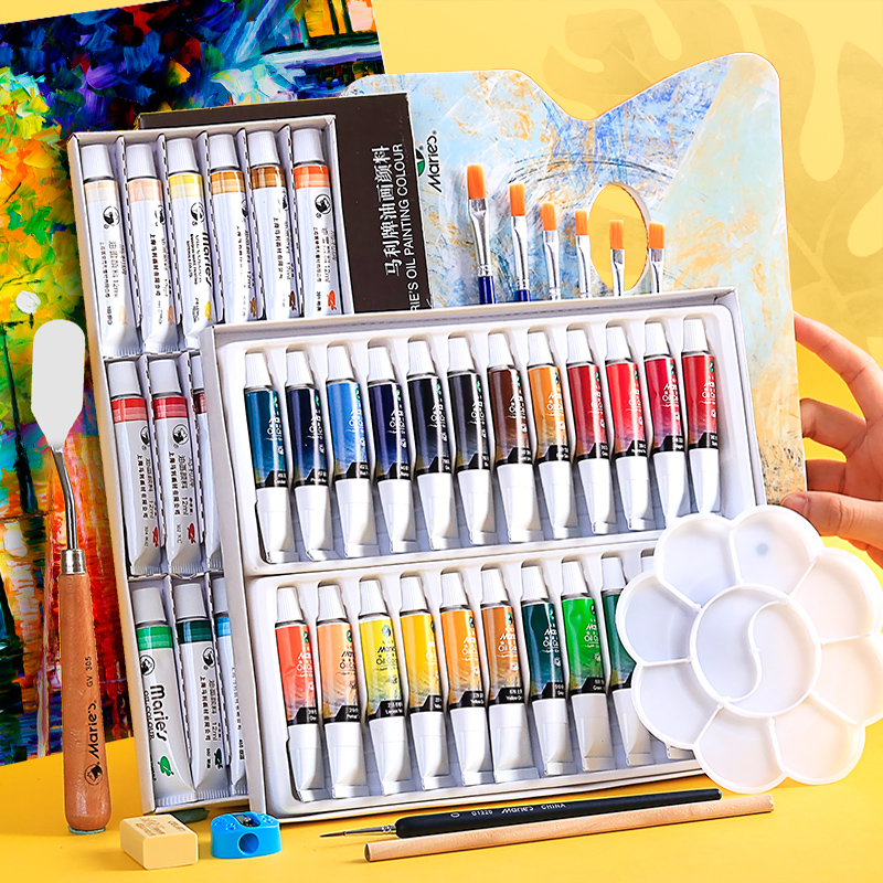 Maries 12/18/24 Colors Professional Oil Paints Colors Painting Drawing Pigments Art Supplies Art Set Oil Painting Set